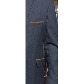 Schneider Könyökfoltos sportzakó kékes szürke