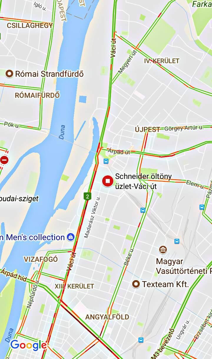 Schneider Váci u-i Tesco térkép