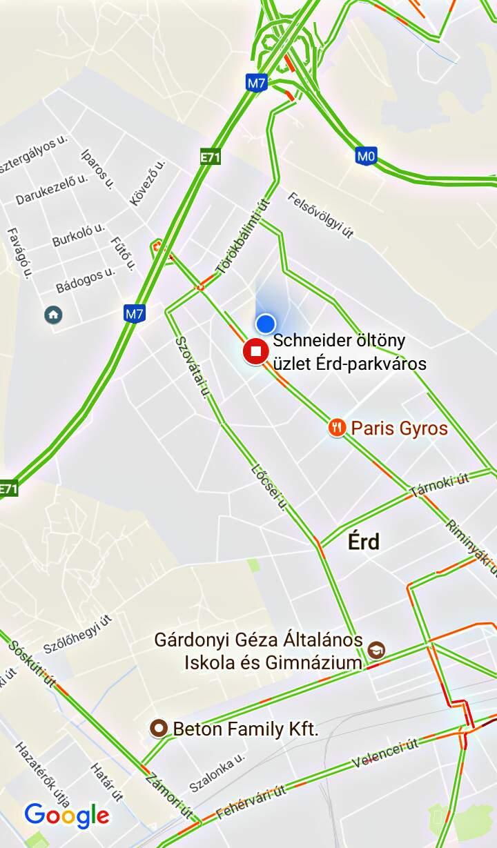 Schneider központ térkép